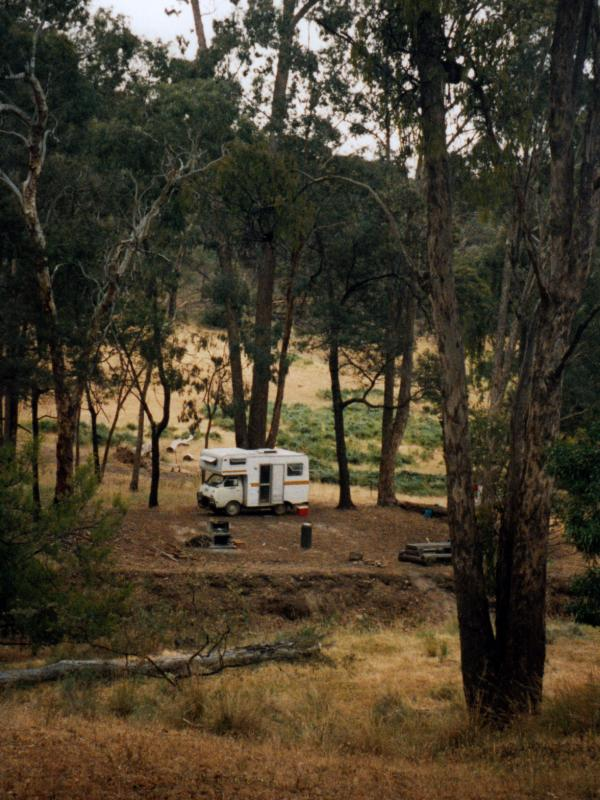 One of the campsites at WaterfallsAlso know as Number 2 Creek Crossing, a campground near Avoca in Pyrenees State Forest. Thanks to <a href=\